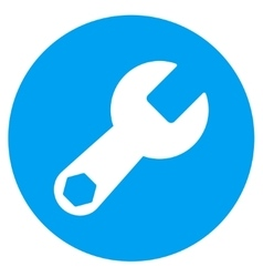 Wrench flat icon vector