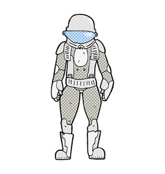 Comic cartoon astronaut vector