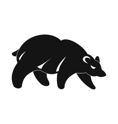 Bear icon simple style vector