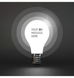 Lightbulb idea symbol place for text 3d vector