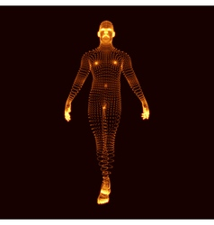 Man stands on his feet 3d model of man vector