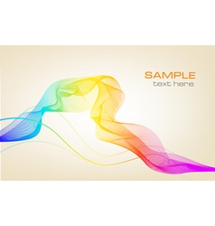Colorful background with ranbow vector