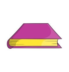 Thick book icon cartoon style vector