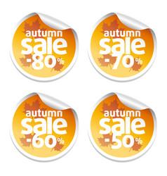 Autumn sale stickers vector