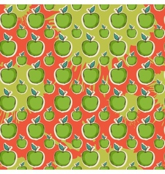 Big fresh apple pattern vector image vector image