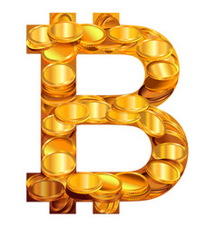 bitcoin symbol virtual money vector image vector image