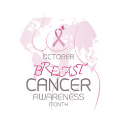 breast cancer awareness month design vector image