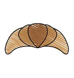Croissant or scone pastry icon image vector