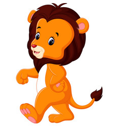 cute lion cartoon vector image vector image