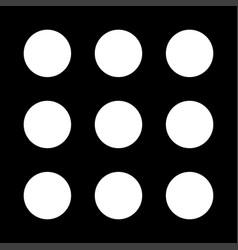 Dial button white color icon vector