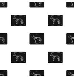 dog x-ray icon in black style isolated on white vector image vector image