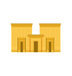 egypt temple ancient egyptian building vector image