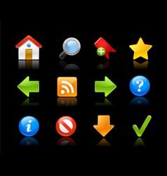 Gel Icons Web Site vector image