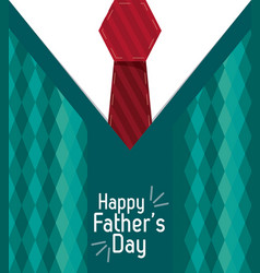 Happy fathers day greeting card lettering over vector