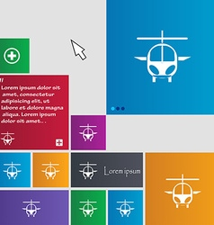 Helicopter icon sign buttons modern interface vector