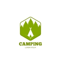 logo of camping vector image vector image