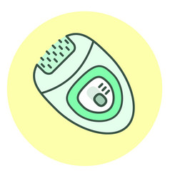 outline epilator icon hair removal unit vector image vector image