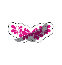 pink leaves decoration icon vector image vector image