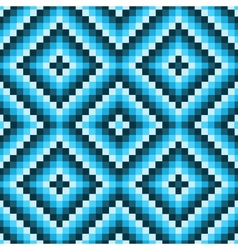 pixel modern geometric seamless pattern ornament vector image