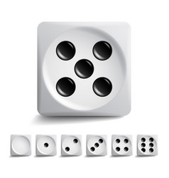 Playing dice set different variants game vector