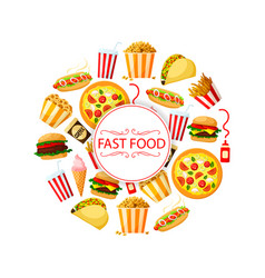 Poster of burgers for fast food restaurant vector