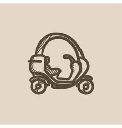 Rickshaw sketch icon vector