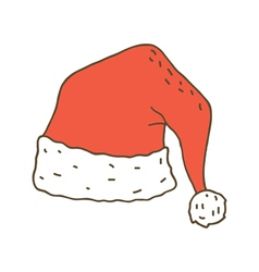 Santa claus hat vector