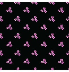 Seamless floral pattern with groups of violet vector image vector image