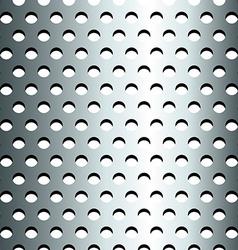 Seamless stainless metallic grid pattern vector