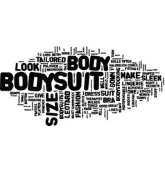 The bodysuit text background word cloud concept vector