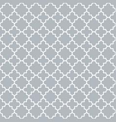 Traditional quatrefoil lattice pattern trellis vector