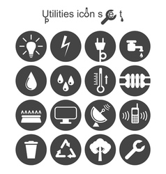 Utilities icon set vector image