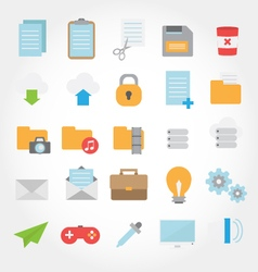 Website and computer flat design icon vector image vector image