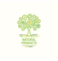 Tree symbol natural product green tree icon vector image