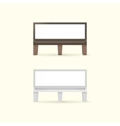 Blank Bench with Place for Message vector image