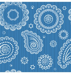 Abstract seamless background of retro flowers vector image