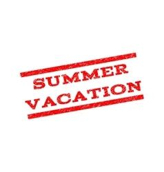 Summer vacation watermark stamp vector