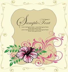 Ornate floral frame invitation card vector