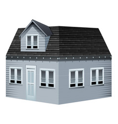 Architecture design for gray house vector
