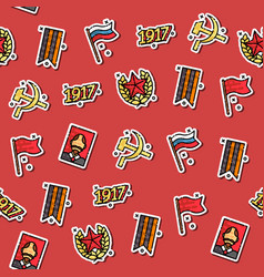 Colored communism concept icons pattern vector