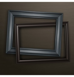 Two wooden black frames vector image