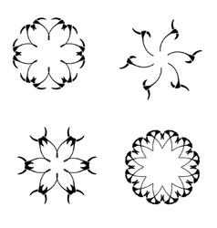 Set of elements for design-spiral flowers vector
