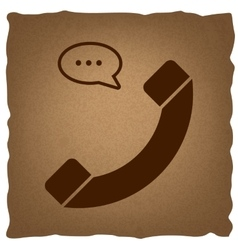 Phone with speech bubble sign vector