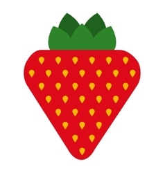 Delicious fruit strawberry isolated icon design vector