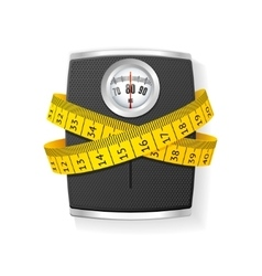 Bathroom Scale Concept of Health Care vector image