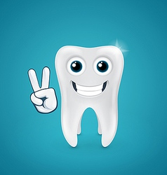 Beauty and happy human tooth vector image vector image
