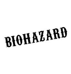 Biohazard rubber stamp vector