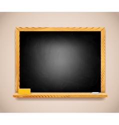 Black Chalkboard on Light Brown Wall vector image