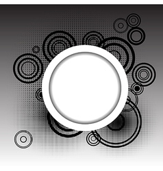 Circles background with place for your text vector image vector image