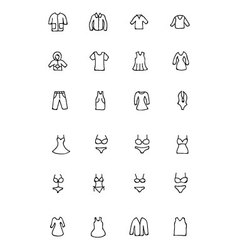 Clothes hand drawn doodle icons 1 vector